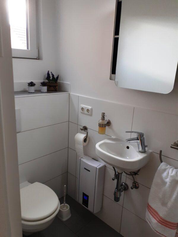 Fewo Wittenberge Badezimmer WC